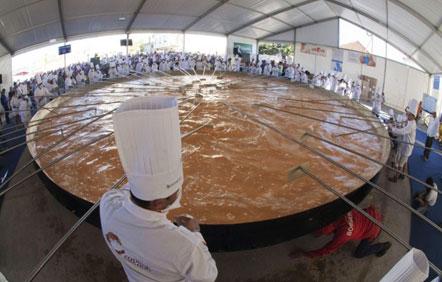 la frittata più grande del mondo